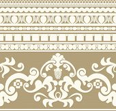 stock photo of neoclassical  - Ancient Greece ornament seamless pattern - JPG