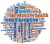 stock photo of std  - Reproductive Health in word collage - JPG