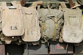 picture of initials  - Old American army bags with U - JPG