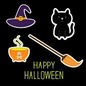 pic of witches cauldron  - Happy Halloween witch Set - JPG