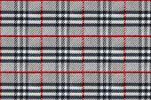 image of tartan plaid  - Plaid Pattern Red and Black Checkered Tablecloth texture fabric repeat pattern tartan background - JPG