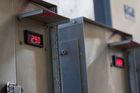 stock photo of electricity meter  - Close up of an Electric meter - JPG