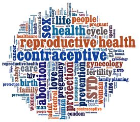 foto of std  - Reproductive Health in word collage - JPG