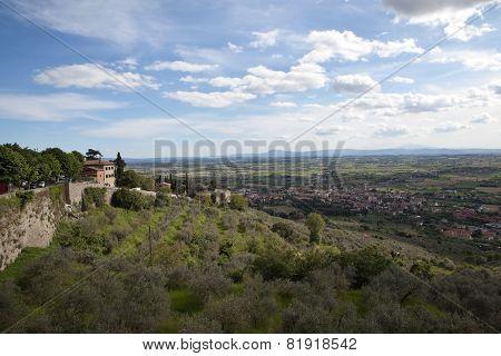 Landscapes of Tuscany. Cortona. Italy