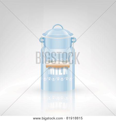 Milk metal can
