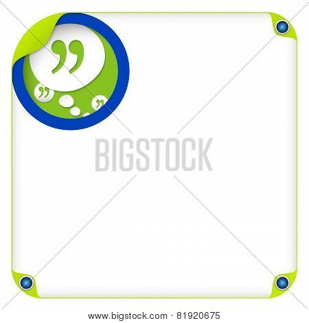 Speech Bubble And Quotation Mark
