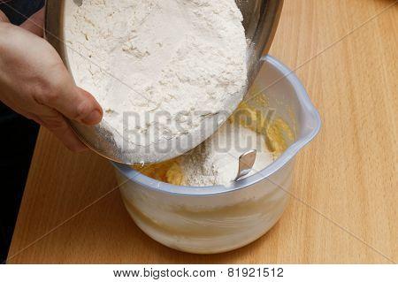 Preparing Dough For The Cake