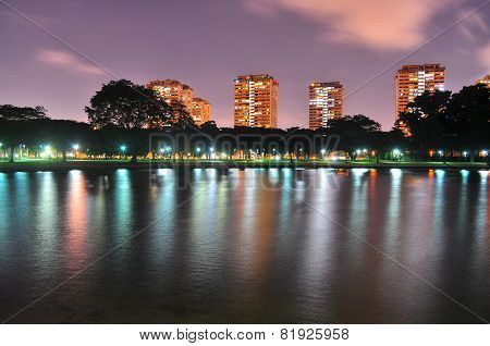 A Lagoon at East Coast Park by night