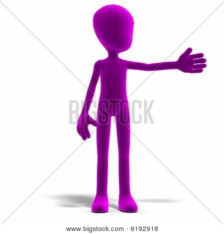 carácter simbólico de hombre toon 3d nos muestran el