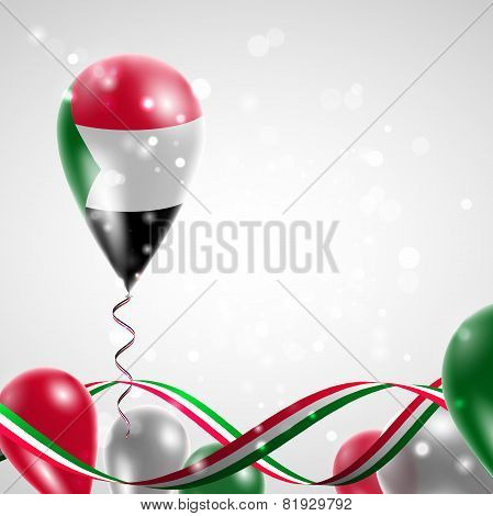 Flag of Sudan on balloon