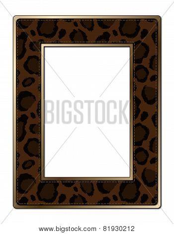 Black and Brown Animal Print Frame