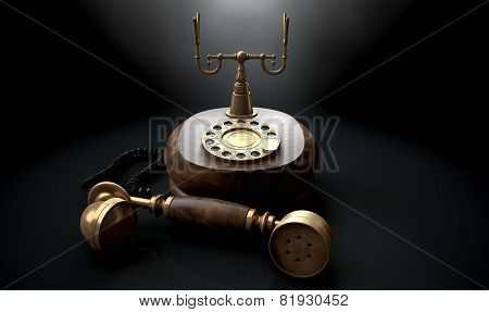 Vintage Telephone Dark Off The Hook