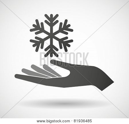 Hand Giving A Snow Flake