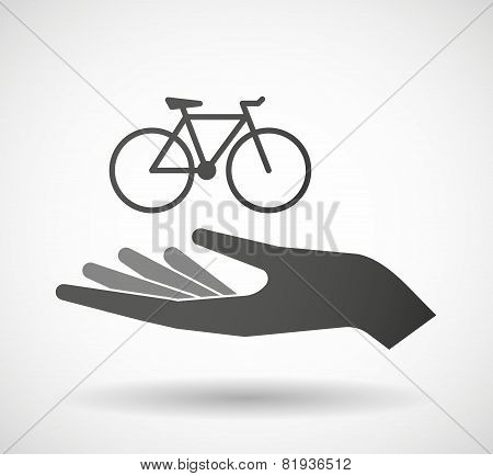 Hand Giving A Bicycle