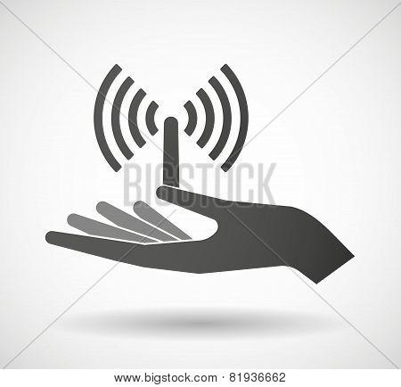 Hand Giving An Antenna