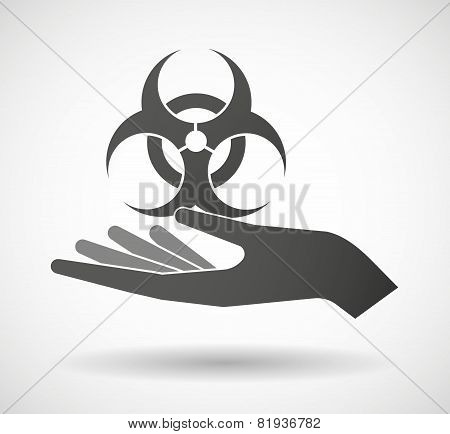 Hand Giving A Biohazard Sign