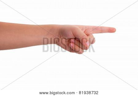 Baby Index Finger Pointing Isolated