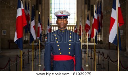Soldier On Guard In Santo Domingo