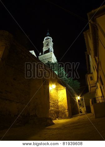Town in Spain at night