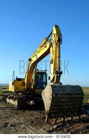 Backfiller excavator digger