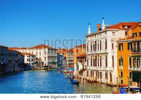 View To Grand Canal In Venice, Italy