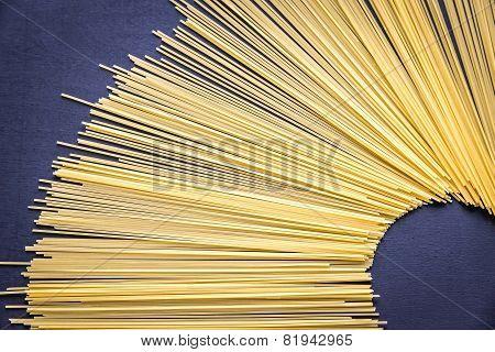 Spaghetti Pasta On The Dark Background