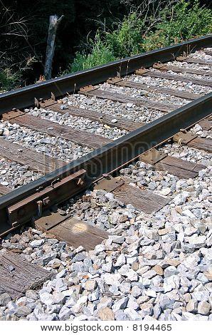 Sideview Railroad Tracks