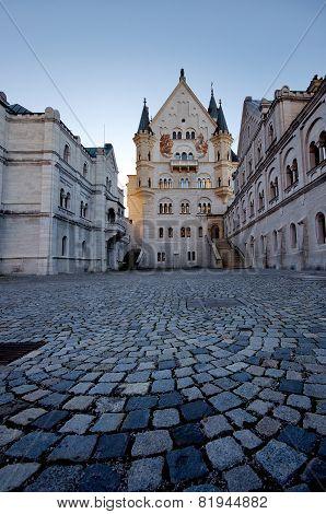 Castle Of Neuschwanstein Near Munich In Germany