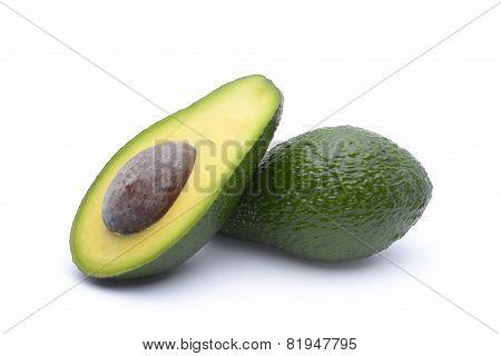 Avocado On A White Background.