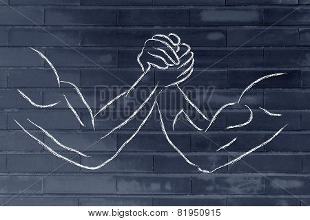 Trial Of Strength, Arm Wrestling Design