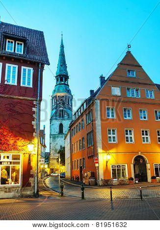 Old Town Of Hanover At Night