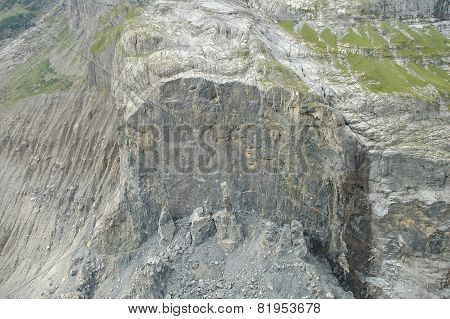 Collapsed Rock Nearby Grindelwald In Switzerland