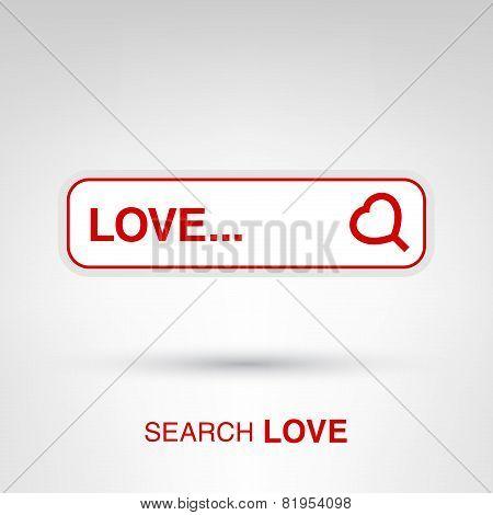 Valentine's Day creative concept - Love search