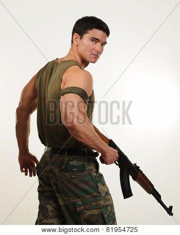 sexy army warrior