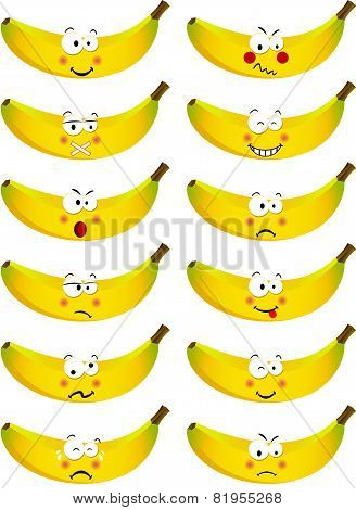 Banana with feature a different expression