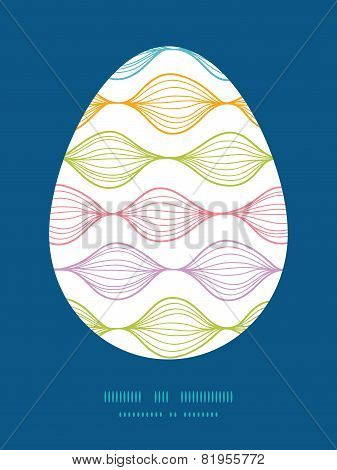Vector colorful horizontal ogee Easter egg sillhouette frame card template