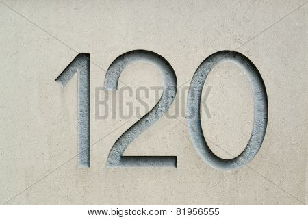Image of the number 120
