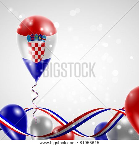 Flag of Croatia on balloon