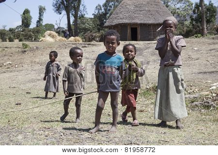 Portrait Of The African Children.