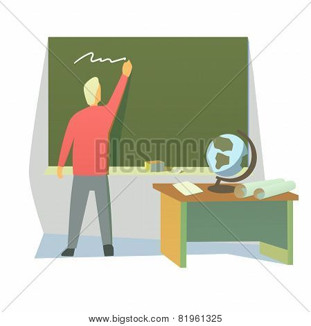 teacher in a classroom