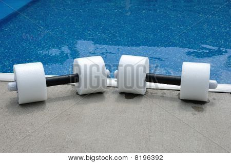 Pair Of Water Aerobics Dumbbells