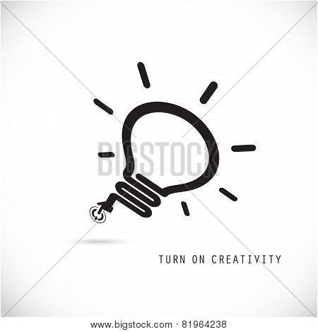 Turn On Creative Light Bulb Concept.