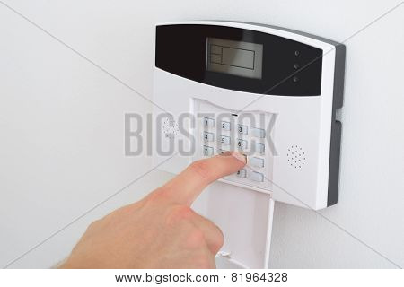 Finger Setting Security Alarm