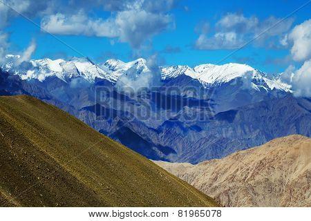 View Of Snow Peaks, Leh Ladakh  Jammu And Kashmir, India
