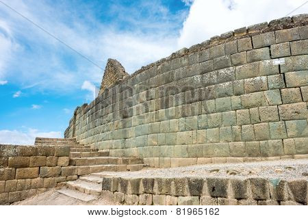 Ingapirca, Inca Wall And Town, Largest Known Inca Ruins In Ecuador