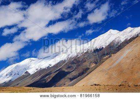 Snow Peak Mountains Of Ladakh, Jammu And Kashmir, India