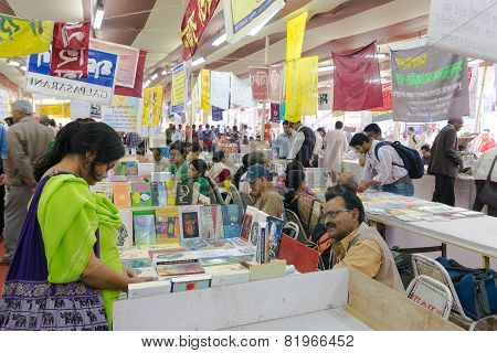 Books Being Sold At Kolkata International Book Fair - 2015.