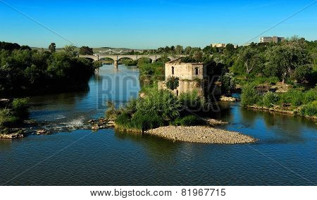 Old Water Mil On Guadalquivir River, Cordoba, Spain