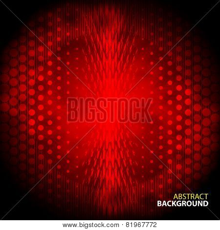 Abstract red background with mesh gloomy circles