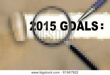 2015 Goals Pixelated